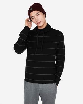 Express Stripe Textured Funnel Neck Sweater