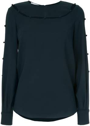 Oscar de la Renta cut out detail blouse