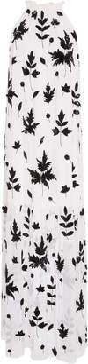 Carolina K. Lucia Embellished Crepe Maxi Dress