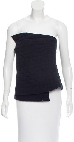 Chanel Quilted Strapless Top