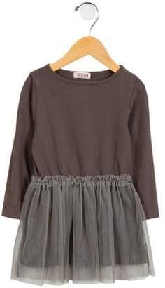 Amelia Milano Girls' Mesh-Paneled A-Line Dress