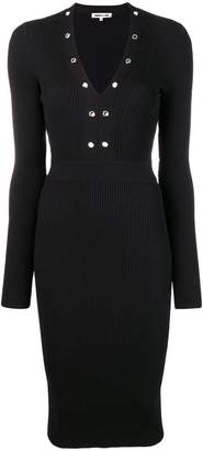 McQ ribbed midi dress
