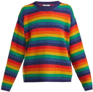 Acne Studios Samara rainbow-stripe wool sweater