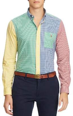 Polo Ralph Lauren Color-Block Gingham Classic Fit Button-Down Shirt