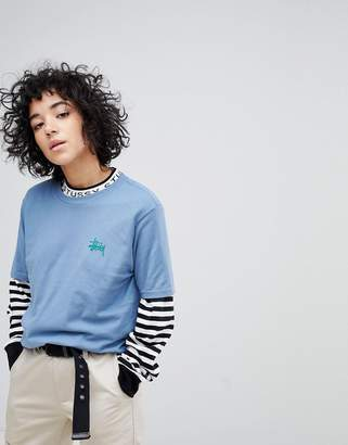 Stussy T-Shirt With Back Logo