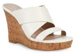 Charles by Charles David Leslie Cutout Leather Wedge Sandals