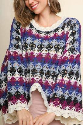 Umgee USA Crochet Sweater