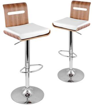 Set of 2 Retro Betty Faux Leather Barstools