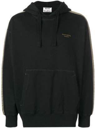 Acne Studios two-tone hooded sweatshirt