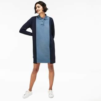 Lacoste Women's LIVE Contrast Panels Fleece Polo Dress
