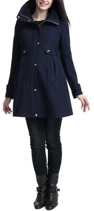 Kimi and Kai Olivia Wool Blend Maternity Coat