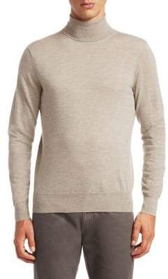 Saks Fifth Avenue COLLECTION Lightweight Cashmere Turtleneck Sweater