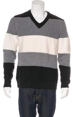Barneys New York Barney's New York Merino Wool Striped Sweater