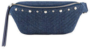 Rebecca Minkoff Bree Denim Pearly Belt Bag