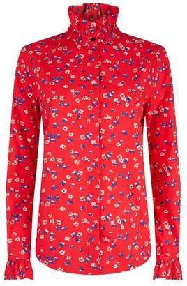 Claudie Pierlot Ruffle Collar Shirt