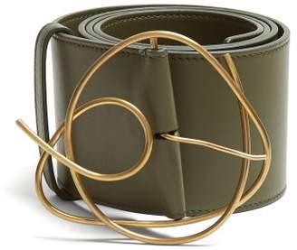 Roksanda Twisted Buckle Leather Belt - Womens - Green
