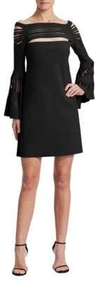 Chiara Boni Karie Bell-Sleeve Dress
