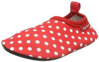 Playshoes Unisex Kids' Badeslipper, Badeschuhe Punkte Water Shoes, Red 8, 10.5 Child UK 28/29 EU