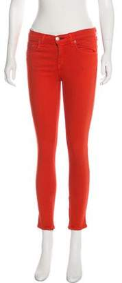 Rag & Bone Zipper Capri Mid-Rise Skinny Jeans