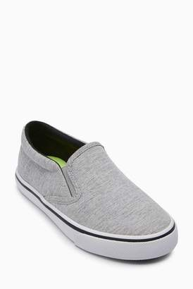 Next Boys Grey Slip-Ons (Older)