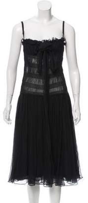 Dolce & Gabbana Chiffon Midi Dress