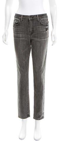 Helmut LangHelmut Lang Distressed Straight-Leg Jeans