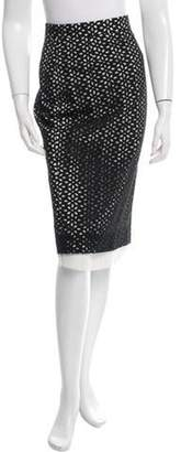 Derek Lam Eyelet Knee-Length Skirt Black Eyelet Knee-Length Skirt