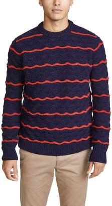 President's Soft Shetland Wave Embroidered Sweater