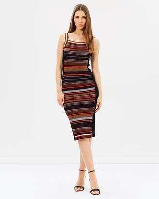 Karen Millen Texture Stripe Knit Dress