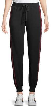 Velvet Side-Stripe Modal/Cotton Jogger Pants