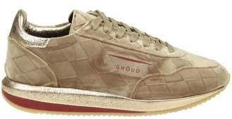 BEIGE Ghoud Sneakers In Suede Color
