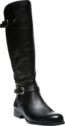 Naturalizer Womens Jennings Wide Calf Riding Boots Black 5.5 Medium (B,M)
