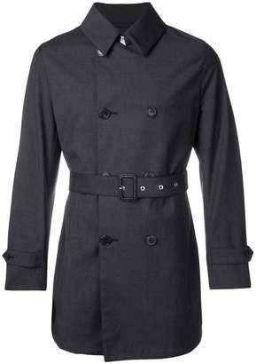 MACKINTOSH Charcoal Wool Storm System Short Trench Coat