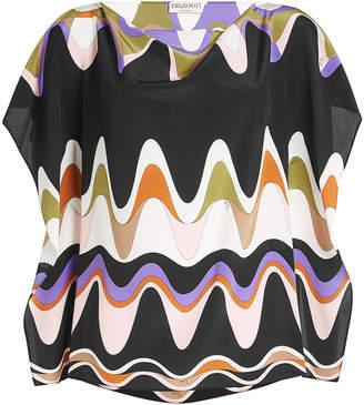 Emilio Pucci Printed Silk Tunic Top