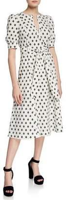 Diane von Furstenberg Della Printed Button-Front Midi Dress
