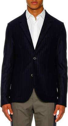 Lanvin Men's 2-Button Deconstructed Jersey Jacket