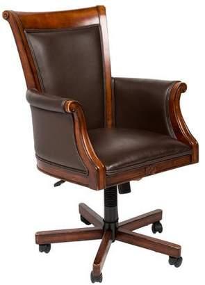 Furniture Wood & Vegan Leather Desk Chair