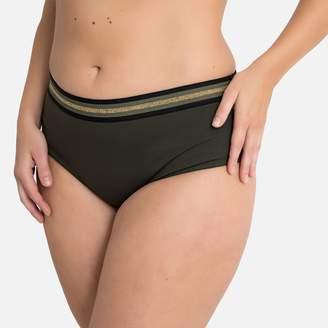 CASTALUNA PLUS SIZE Metallic Stripe Bodyshaping Mix and Match Bikini Bottoms