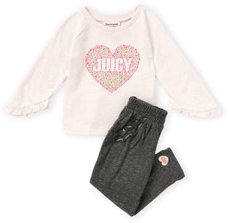 Juicy Couture Infant Girls) Two-Piece Heart Long Sleeve Tee & Leggings Set