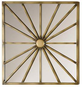 Brayden Studio Square Antique Gold Mirror