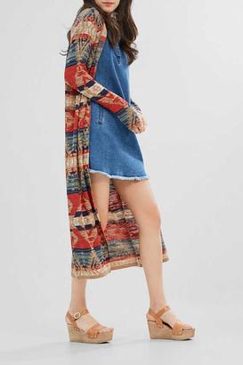 Esprit Ikat Fine-Knit Cardigan $126 thestylecure.com