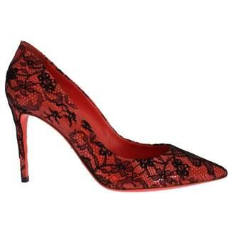Dolce & Gabbana Orange Cloth Heels