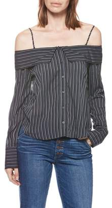 Paige Lunetta Stripe Off the Shoulder Top