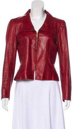 Chanel Structured Leather Jacket