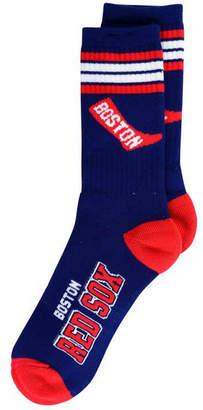For Bare Feet Boston Red Sox Retro 4 Stripe Deuce Crew Socks
