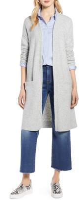 Halogen Long Open Front Cardigan
