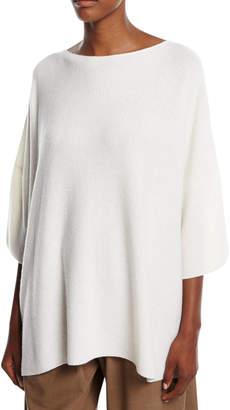 eskandar Knit Cashmere 3/4-Sleeve Sweater