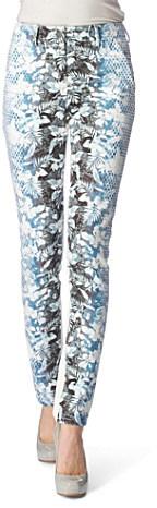ALEXANDER WANG Printed straight-leg jeans