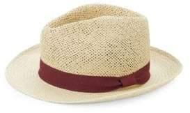 Saks Fifth Avenue Contrast Patterned Fedora Hat
