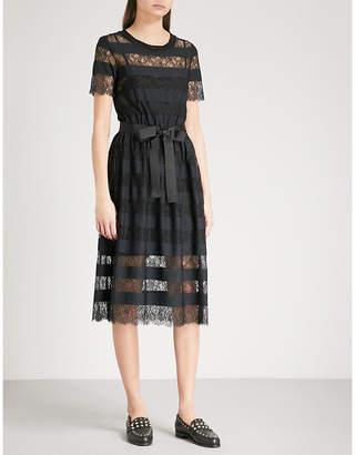 Claudie Pierlot Tactique stripe and lace dress